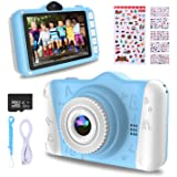 WOWGO Kids Digital Camera - 12MP Children's Camera with Large Screen for Boys and Girls, 1080P Rechargeable Electronic Camera