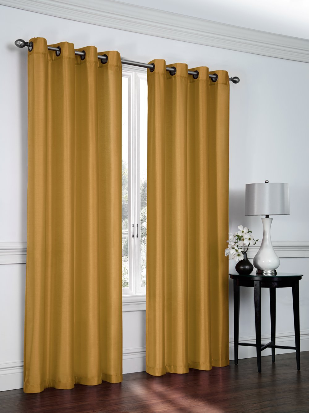 for room wide curtains curtain tulle width product living solid grommet sheer color
