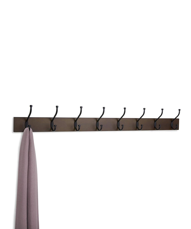 Amazon.com: AmazonBasics - Perchero de pared (8 ganchos ...