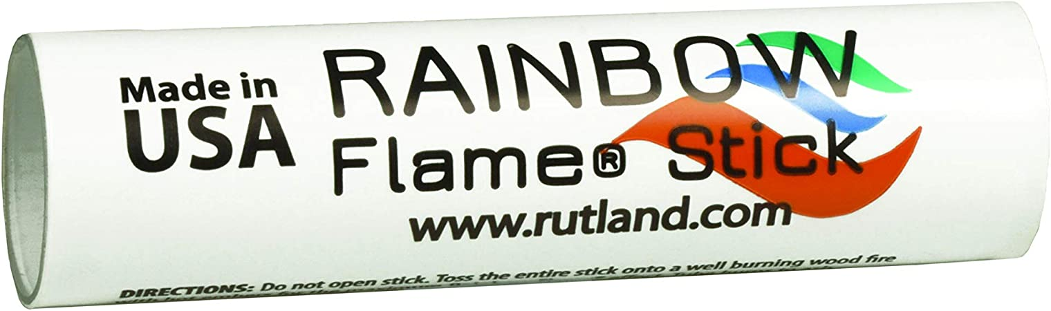 Rutland Rainbow Flame Colorful Crystals For Green /& Blue Indoor Outdoor Fires