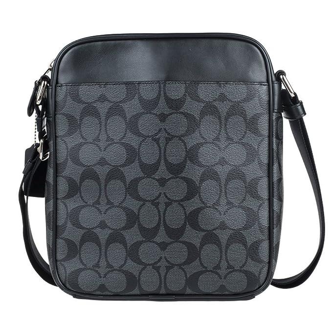 Amazon.com  Coach Mens Flight Bag in Signature PVC 54788 in Charcoal Black   Shoes a433d071d4409
