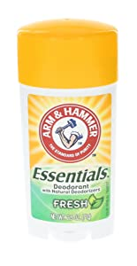 ARM & HAMMER Essentials Natural Deodorant Fresh 2.50 oz (Pack of 12)