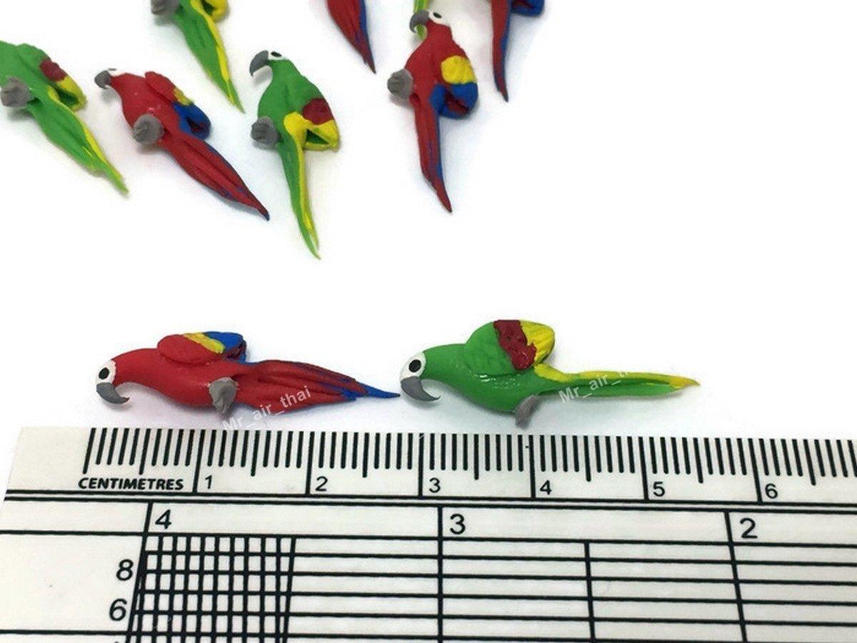 LOT OF 12/Miniatur Parrot Fairy Garden Supplies Tier Figur M/öbel Puppenhaus GD # 009