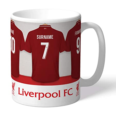 c20c1192c Liverpool FC Dressing Room Personalised Mug Football Gift  Amazon.co.uk   Kitchen   Home