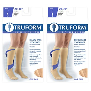 abc67612995 Image Unavailable. Image not available for. Color  Truform Compression 20-30  mmHg Knee High Stockings ...