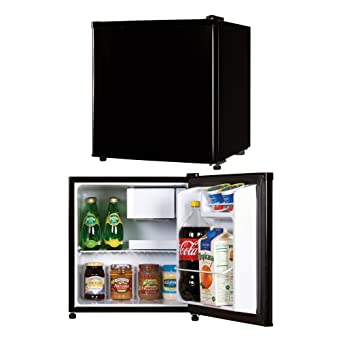 Impecca Classic Compact Refrigerator And Freezer, Single Door Reversible Door  Refrigerator 1.7 Cubic Feet,