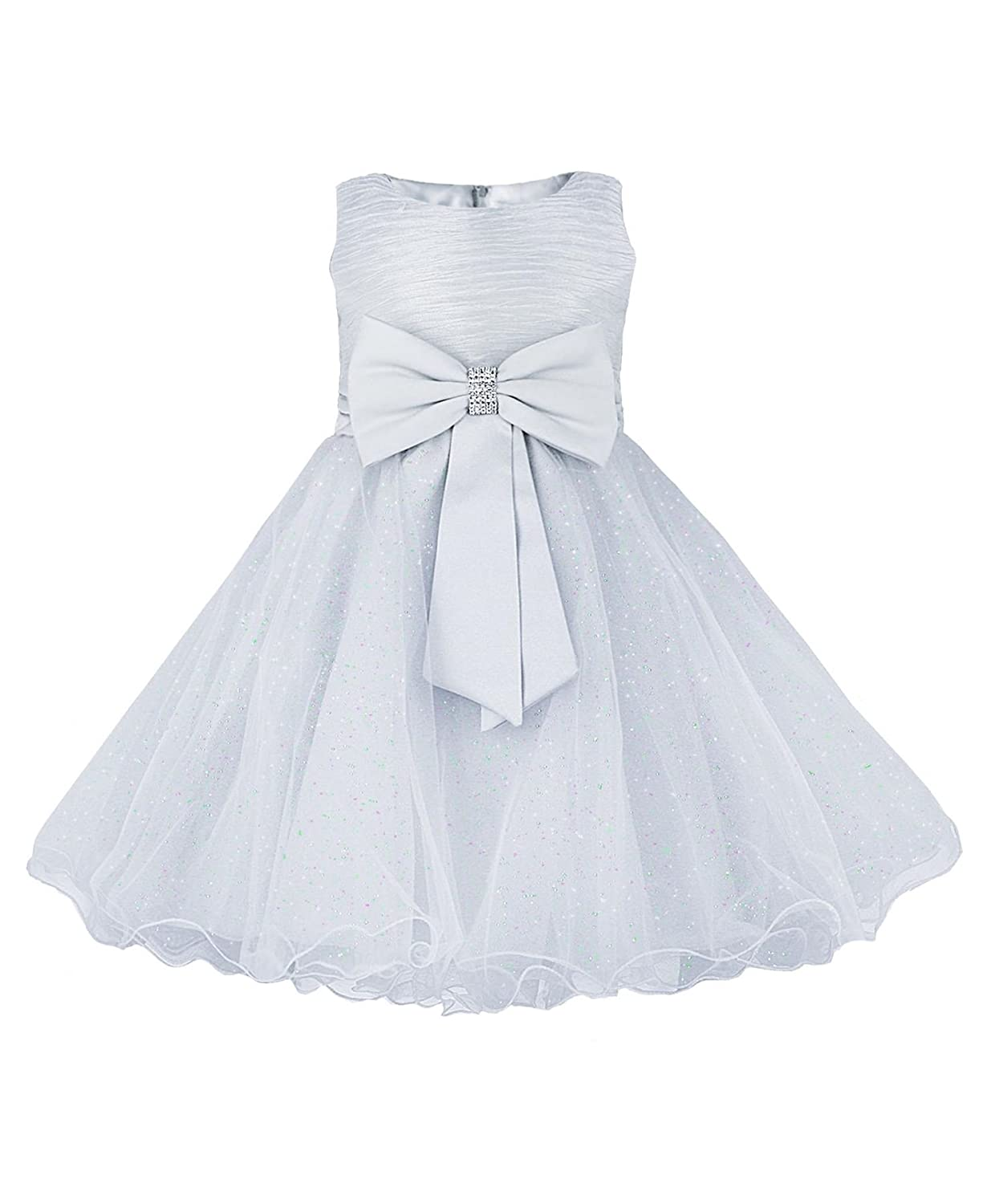 Rageit Lotmart Girls Party Tulle Dress Bow Detail Flower Girl