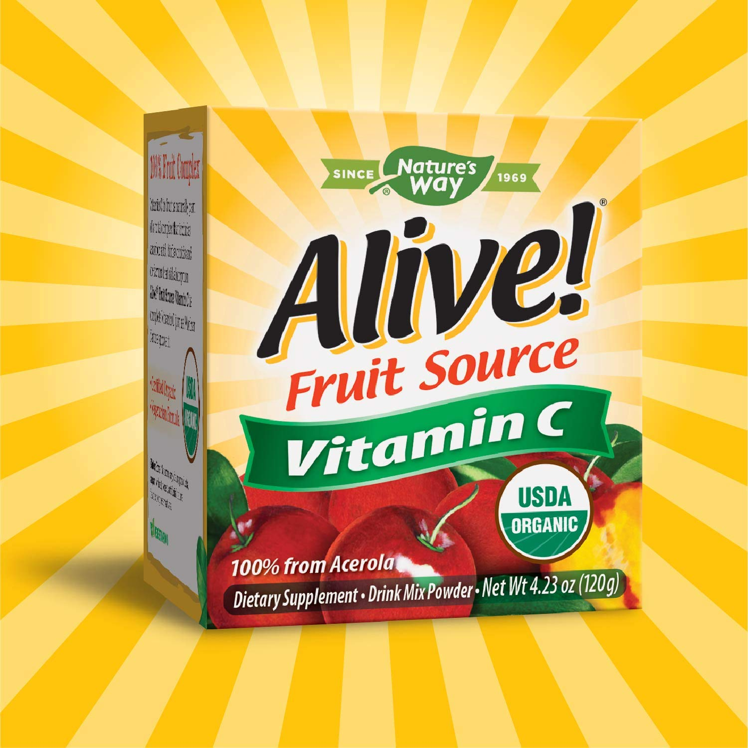 Natures Way Alive! Natural Vitamin C Powder - 120g: Amazon.es: Salud y cuidado personal
