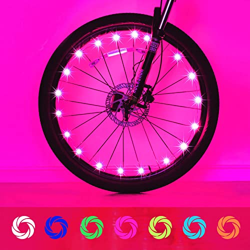 Evaduol Bike Wheel Lights, 7 Colors in 1 Bike Lights