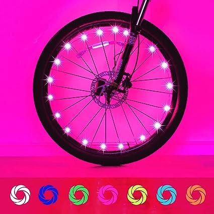 Wheel Brightz 1 RED Light LED Bicycle Bike For 1 Wheel.
