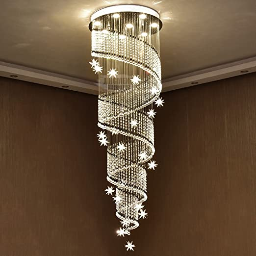 Pendant light fixtures led double staircase chandeliers crystal pendant light fixtures led double staircase chandeliers crystal light stairs lights long chandelier villa hall aloadofball Image collections