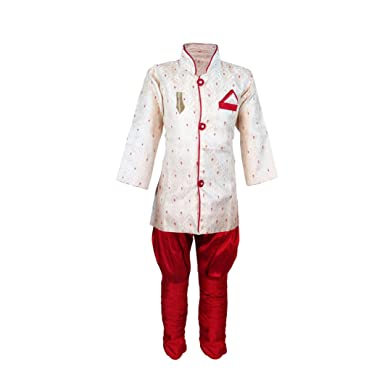 ec447d5c6 Amazon.com: JBN Creation Boys' Gold Cotton Silk Kurta and Pyjama Set ...