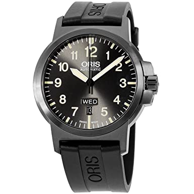 Oris BC3 Grey Dial Silicone Strap Men s Watch 73576414263RS