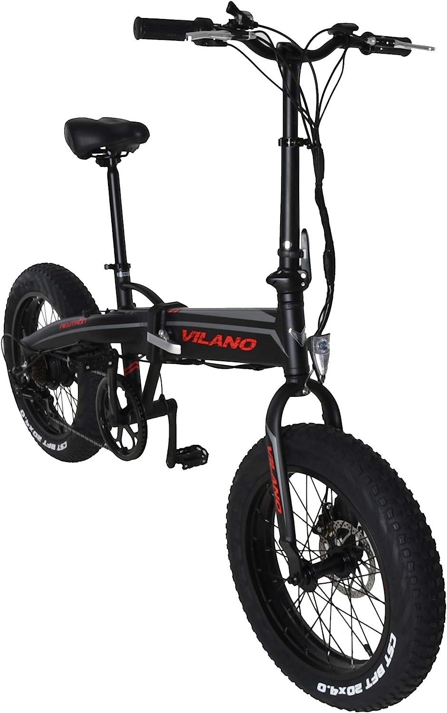 Vilano neutrón eléctrica Grasa Bicicleta Plegable, Ruedas de 20 ...