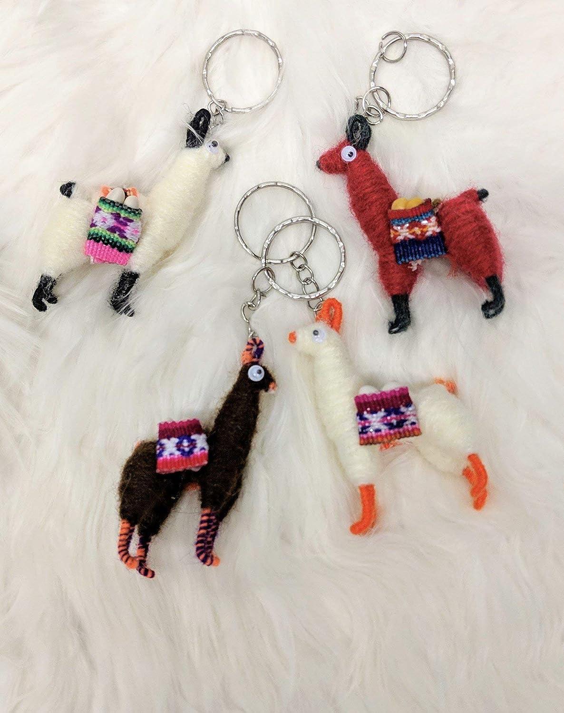 Googly Eyes Llama Keychain