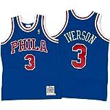 1b650b60d Mitchell   Ness 72263B296AIVER Men Philly 76ERS Allen Iverson Nostalgia Blue