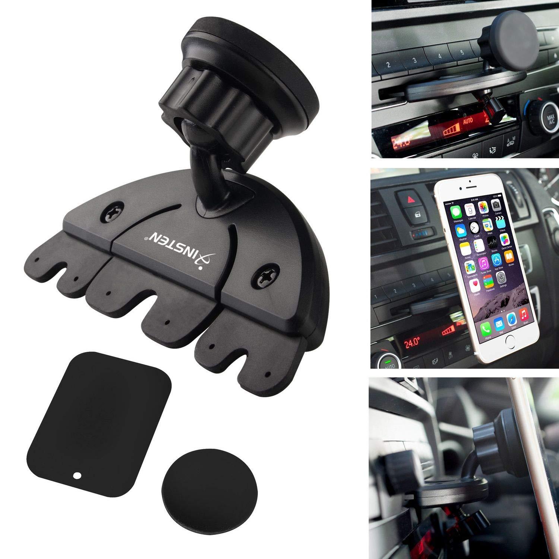 Insten Universal CD Player Slot Magnetic Mobile Phone Car Mount Holder For Nexus 6P; Nexus 5X; Samsung Galaxy S8/S8+ S8 Plus/S7 Edge, LG G4/G6, Apple iPhone X/8/8 Plus 7/7 Plus/6S Plus