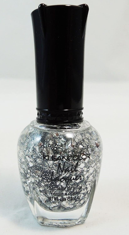 1-Pc Pretty Popular Nails Polish Lacquer Long-Lasting Bright Glitters Peel Primer Color Type Chunky Silver