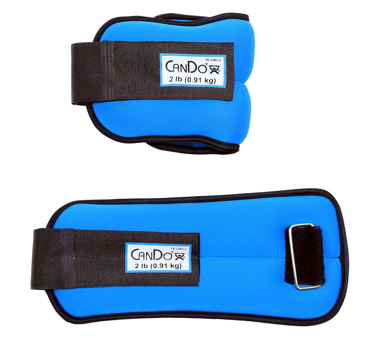 CanDo 10-3383-2 Weight Straps, 4 lb. Set, Blue (Pack of 2)