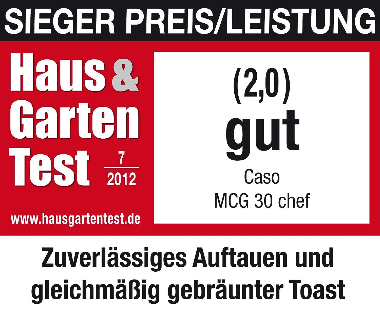 Caso mcg30/Chef Design micro-ondes Four /à micro-ondes acier inoxydable