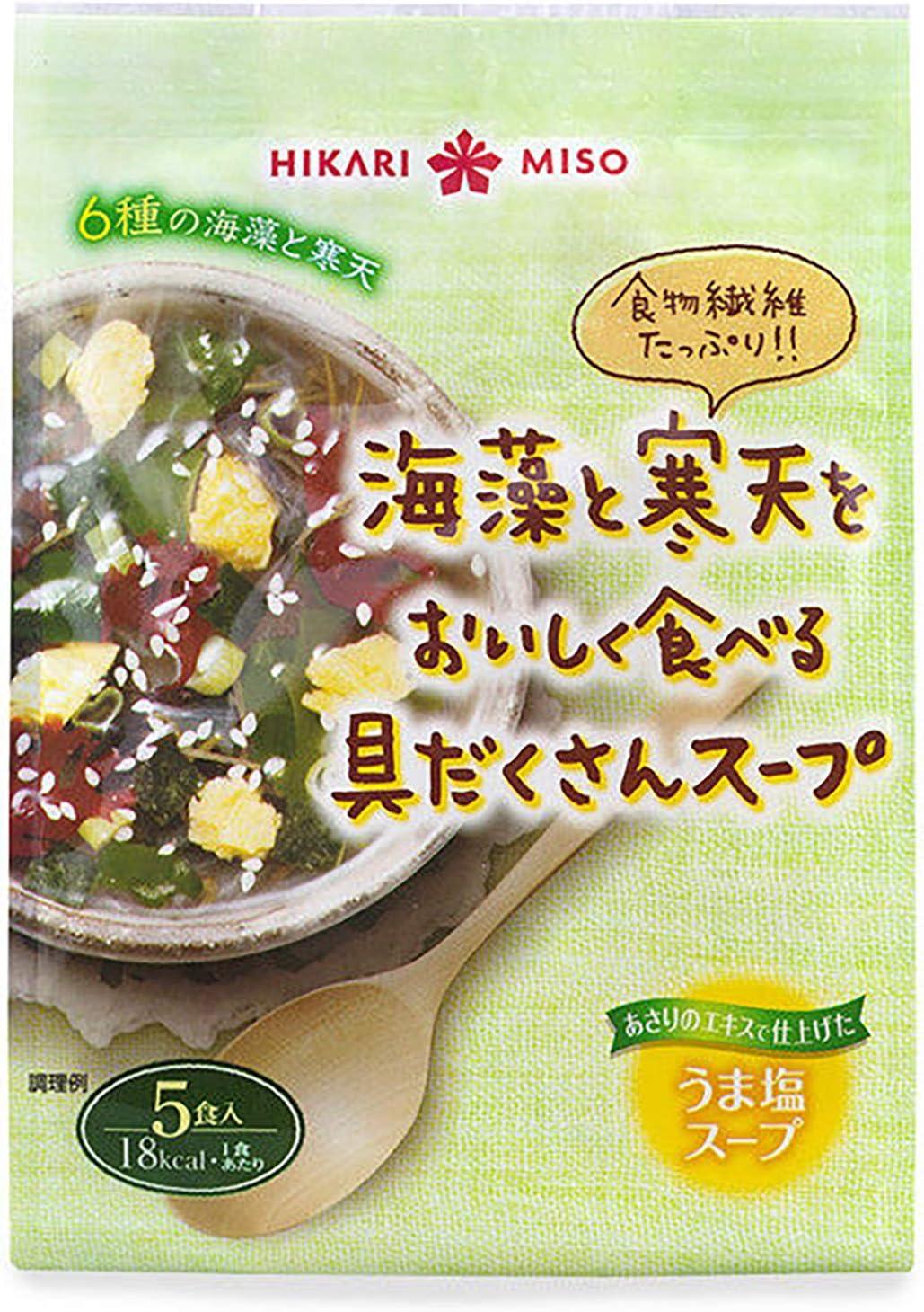 ひかり味噌 海藻と寒天をおいしく食べる具だくさんスープ 5食×4個