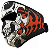 Astra Depot 2 In 1 Reversible Warm Black Tribal Classic Skull Neoprene Full Face Mask Facemask Headwear Outdoor Sport Ski Skiing Snowmobile Snowboard