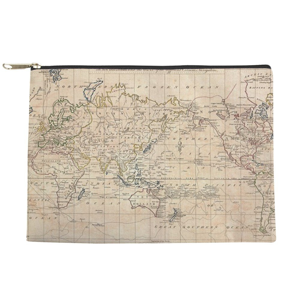 d941b238c61b CafePress - Vintage Map Of The World (1799) - Makeup Pouch good ...