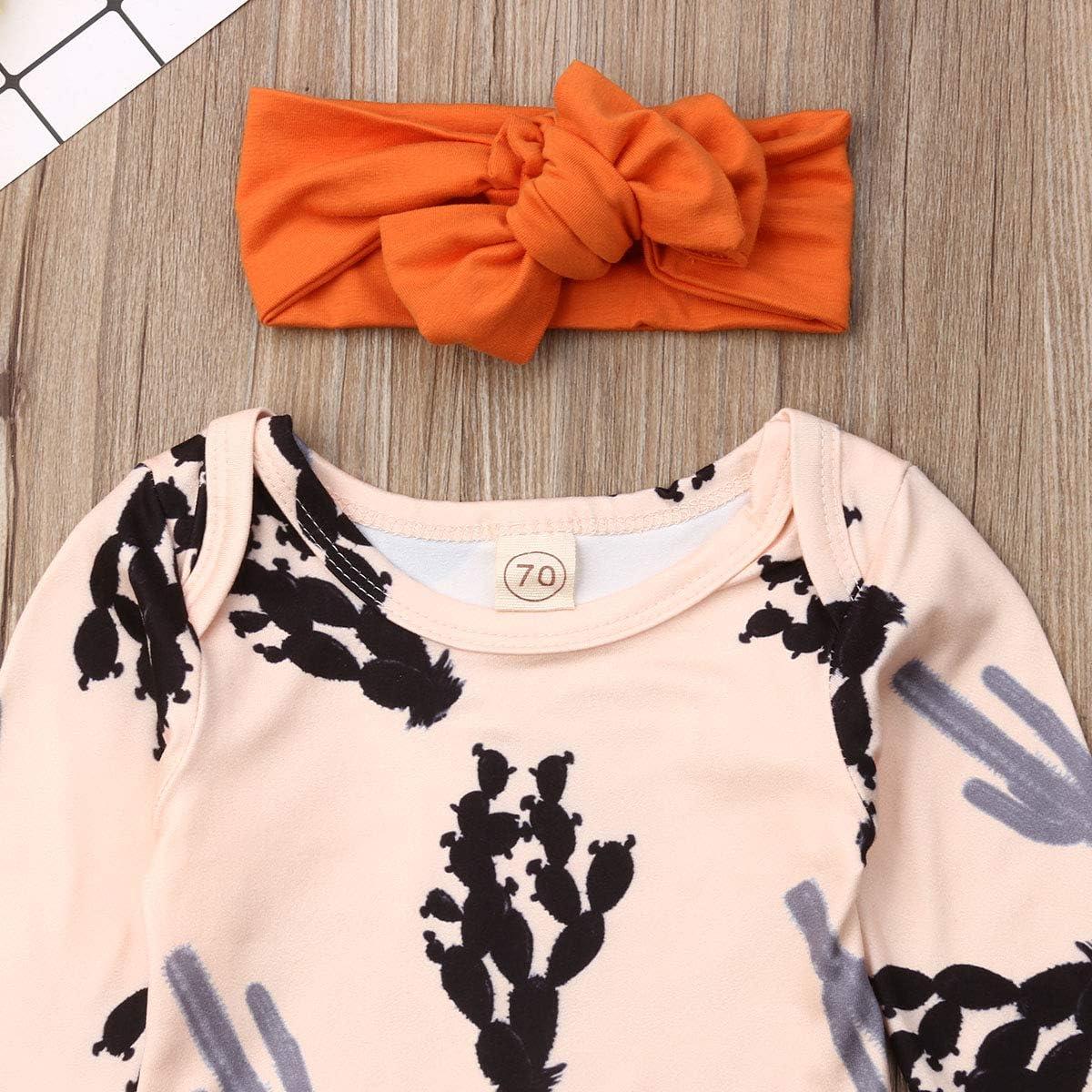 Cacti Cactus Toddler Baby Girls Cotton Ruffle Short Sleeve Top Soft T-Shirt 2-6T