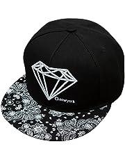 Cappello Berretti da Baseball Amazingdeal365 Moda Unisex Snapback Regolabile  Baseball Cap Hip Hop Cappelli (Nero d061ba65d652