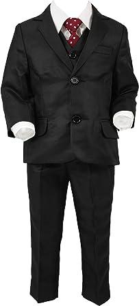 Traje de niño (5 Piezas), Color Negro: Amazon.es: Ropa y accesorios