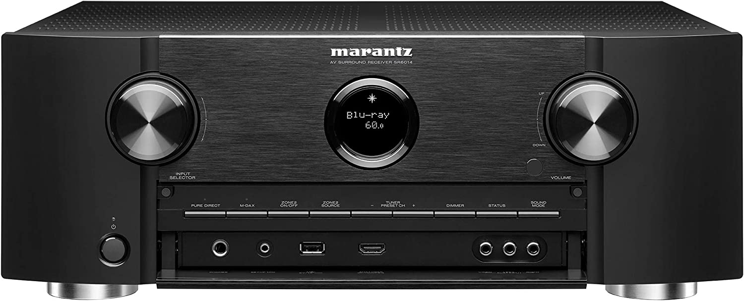 Marantz 4K UHD AV Receiver SR6014 - 9.2 Channel (2019 Model) | Latest Surround Sound Formats - IMAX Enhanced | Dolby Virtual Height Elevation | Amazon Alexa | Online Streaming | Home Automation