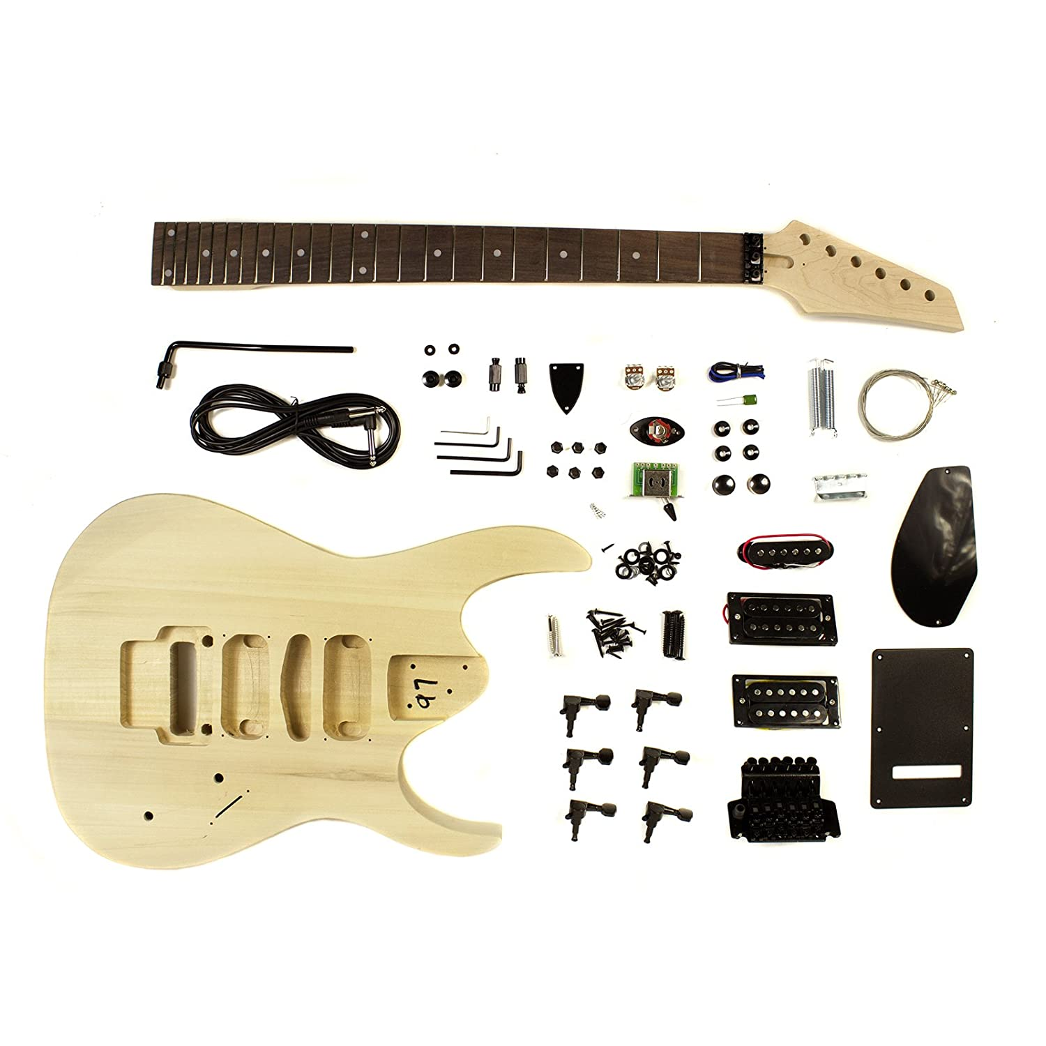 Heavy Metal Electric Guitar Solid Wood Diy Kit Project Double Of Tremolo Get Free Image About Wiring Diagram Locking Musical Instruments