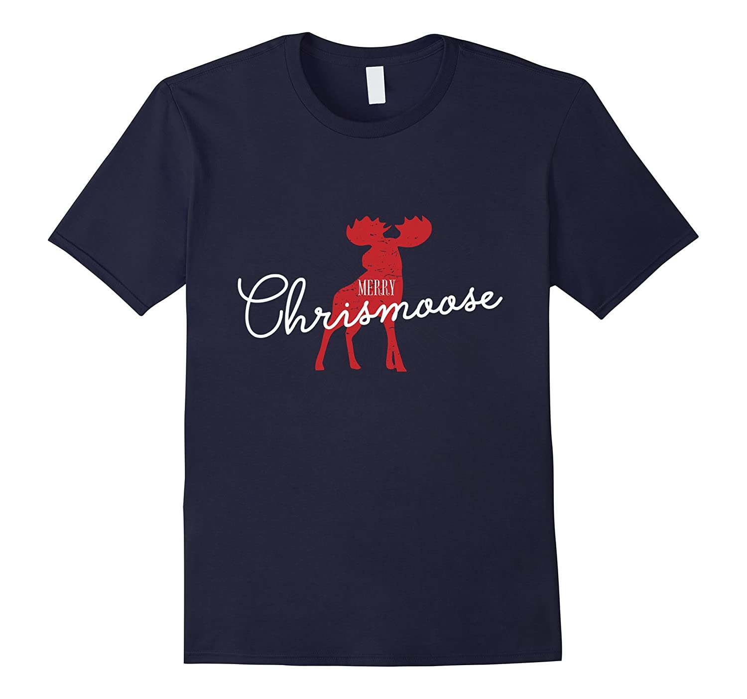 The Merry Chrismoose Christmas Moose Funny Gift T-Shirt