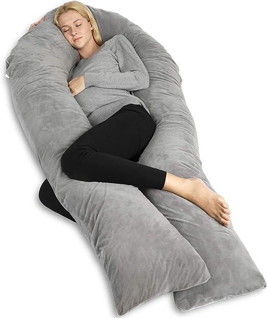 almohada de maternidad completa para mujeres embarazadas QUEEN ROSE Almohada de embarazo con funda de almohada para el cuerpo almohada en forma de U