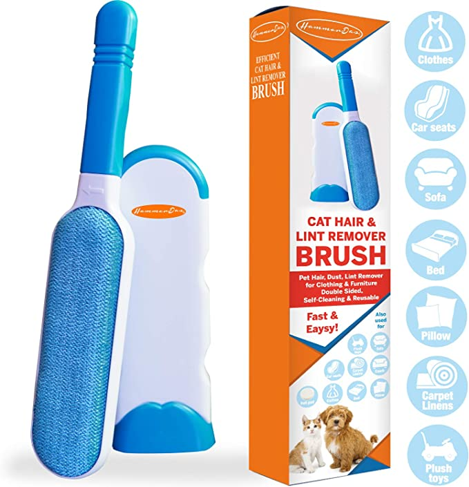 Double Sides Lint Roller Brush Clothes Fluff Dust Pet Cat Dog Hair Remover Roll