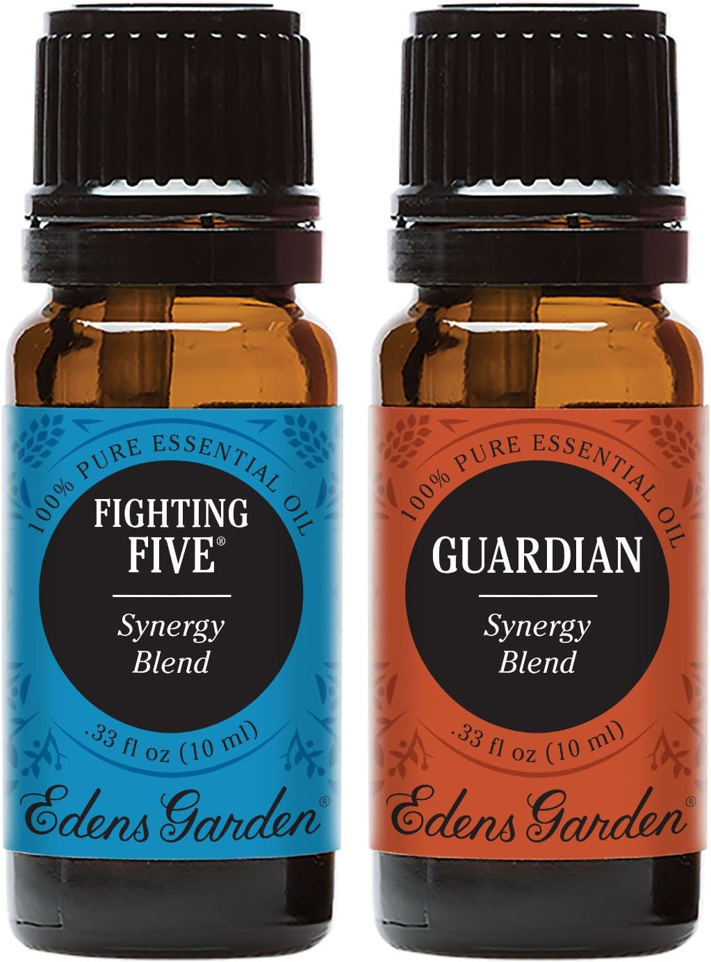 Edens Garden Fighting Five & Guardian Essential Oil Synergy Blend, 100% Pure Therapeutic Grade (Highest Quality Aromatherapy Oils), 10 ml Value Pack