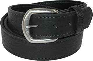 product image for Boston Leather Men's Big & Tall Bison Leather Belt with Removable Buckle