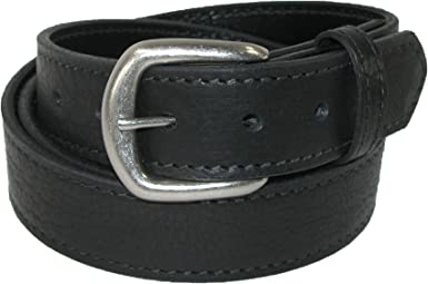 BASKET WAVE WESTERN STYLE MEN/'S BIG AND TALL GENUINE LEATHER CASUAL WORK BELT