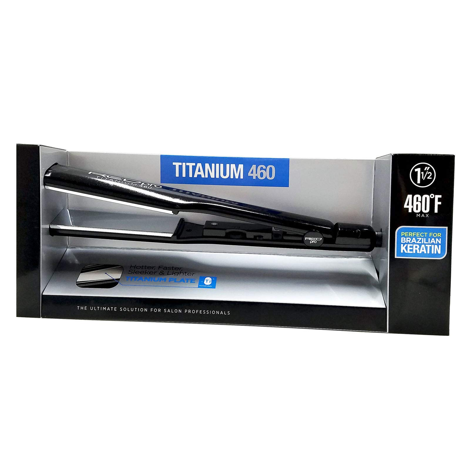RED Pro Titanium 460 1-1/2 Inches Flat Iron (Model: FIP150U) by Red