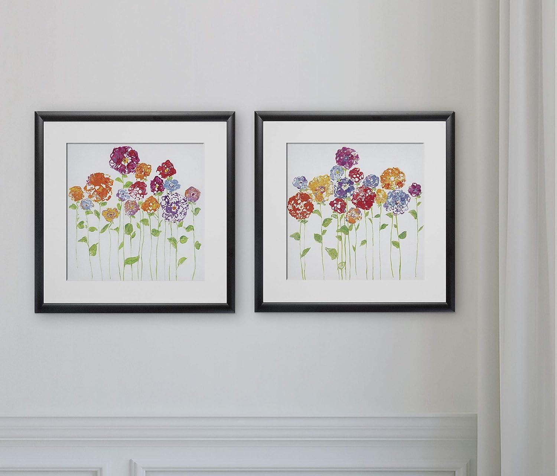 Amazon Com Wexford Home Pretty Posies 2 Piece Set Art Print 16x16 Home Kitchen
