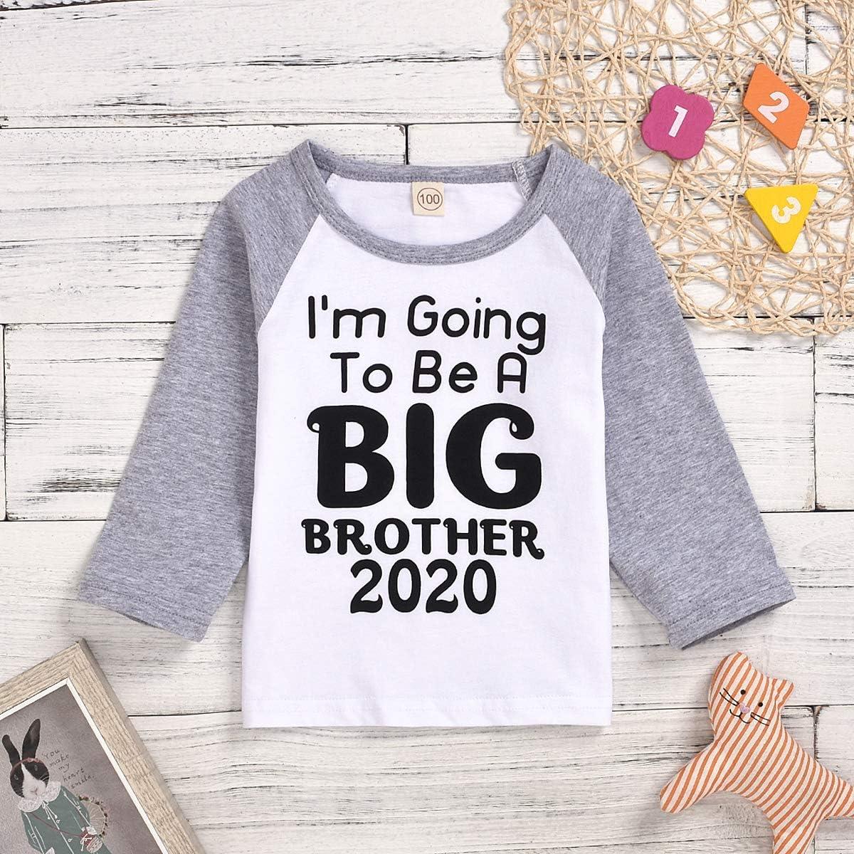 2020 Big Brother Big Sister Baby Jungen M/ädchen Langarm Gro/ße Schwester//Gro/ßer Bruder 2020 Letters Print Raglan Shirt Top