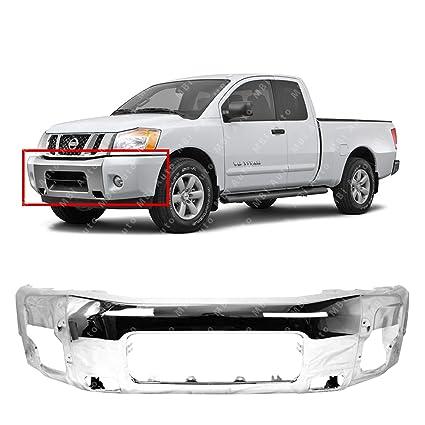 MBI AUTO - Chrome Steel, Front Bumper Face Bar for 2004 2005 2006 2007  Nissan Armada & 2004-2014 Nissan Titan Pickup, NI1002136