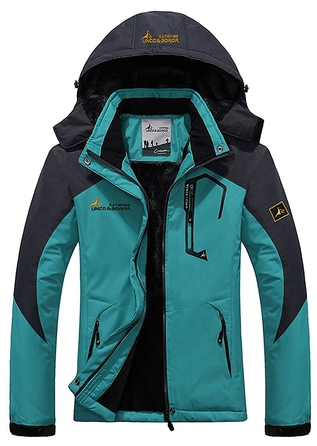 American Trend Women's Waterproof Mountain Jacket Fleece Hooded Ski Jacket American Trends ACAS0425C0000