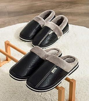 Luiyy Zapatillas de Casa para Hombre/Mujer Zapatillas Fluff ...