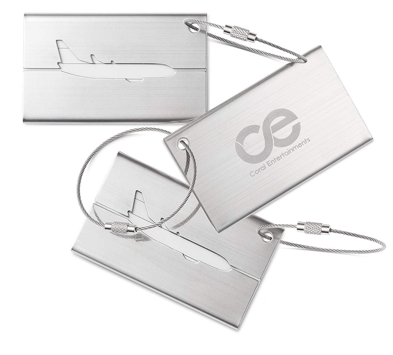 CE荷物タグ3単位、ステンレススチール。1年間保証とボーナス含ま。 B017MRNEGK