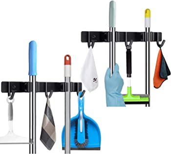 2-Pack DunGu Broom and Mop Holder Wall Mounted