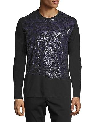 045d9535 Versace Collection Medusa Print Short-Sleeve T-Shirt, Black/Violet (3XL