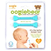 oogiebear - The Safe Baby Nasal Booger and Ear Cleaner - Baby Shower Gift and Registry Essential Snot Removal Tool - Two Pack - Blue