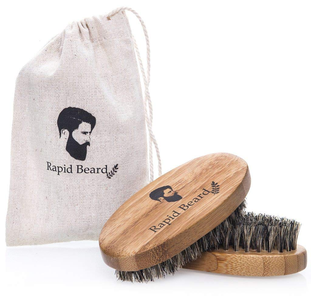 Beard Brush and Beard Comb kit for Men Grooming, Styling & Shaping - Handmade Wooden Comb and Natural Boar Bristle Beard Brush Gift set for Men Beard & Mustache Care by Rapid Beard by Rapid Beard (Image #9)