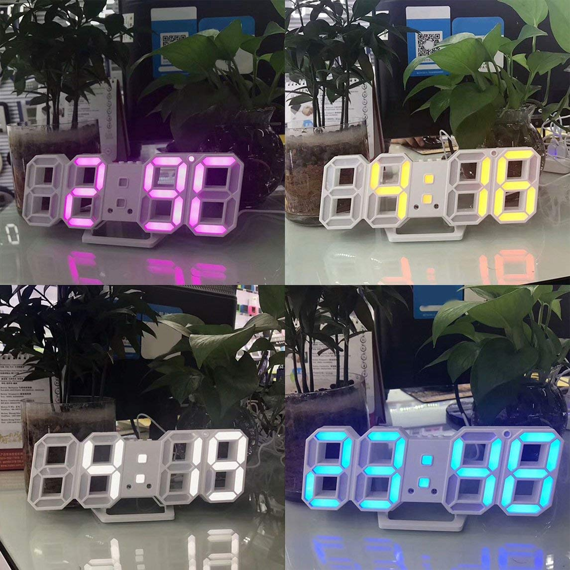 Footprintse Reloj de Mesa 3D LED Diseño de número Digital ...